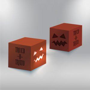 Cubos cartón con troquel Halloween Bolbrac Digital Printing
