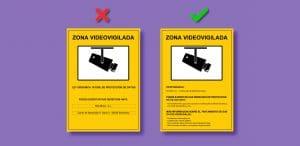 Información cartel de videovigilancia Bolbrac Digital Printing